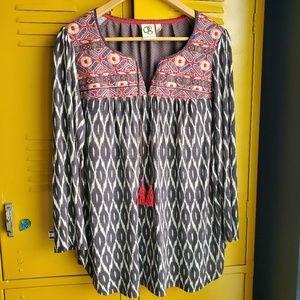 Anthropologie one September boho ikat blouse